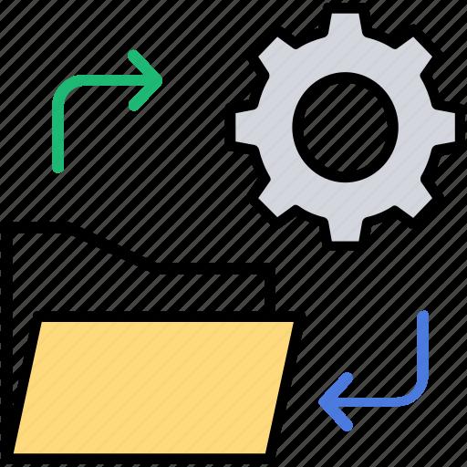data management, data processing, folder configuration, folder directory, folder setting icon