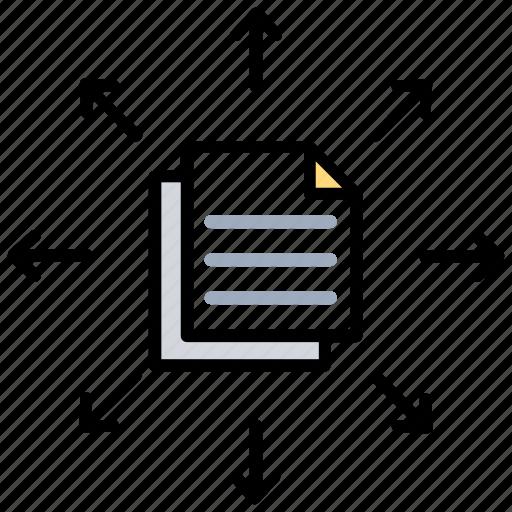 Data exchange, data sharing, data transfer, file transmission, information resource icon - Download on Iconfinder