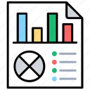 business report, business research, data computation, data evaluation, statistical analysis icon