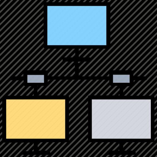 client hosting server, network folder, remote folder, shared directory, shared folder icon