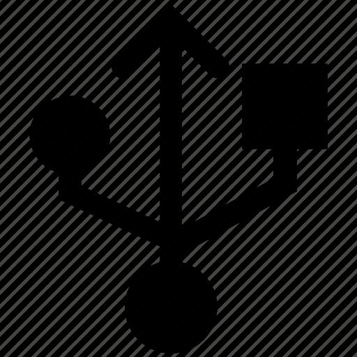 connection, port, sign, usb sign, usb symbol icon
