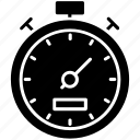 effectiveness, efficiency measure, performance ratio, productivity symbol, stopwatch icon