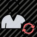 profile avatar, refresh user account, sync user, update profile, user account icon