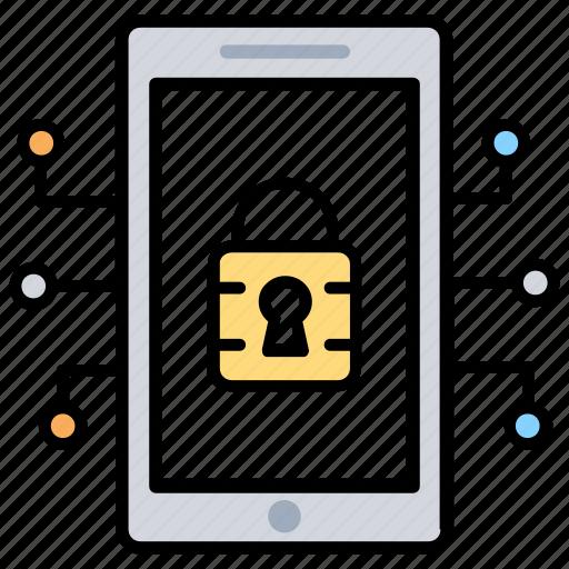 authentication, data protection, mobile data encryption, mobile password, mobile security icon