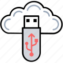cloud backup, cloud computing, cloud memory, cloud storage service, digital storage icon