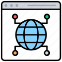 internet connection, search engine, web browser, web network, world wide web icon