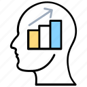 analytical thinking, business mind, data insight, logical thinking, statistical analyst icon