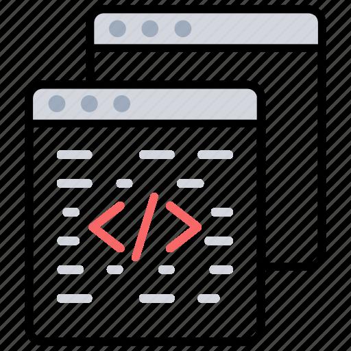 custom coding, html code, programming language, web coding, web development icon