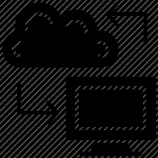 big data, cloud connection, cloud network, cloud storage, datacenter icon