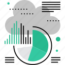 analysis, cloud, computing, data, information, report, statistics icon
