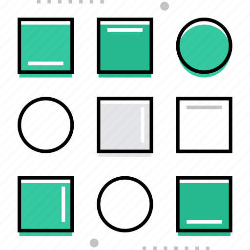 forms, logic, organization, pattern, system icon