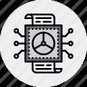 analysis, data, datum, processing, reporting, warehouse icon
