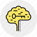 biohacking, brain, hack, hacking, key, mind, skill icon
