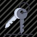 key, keys, room, security icon