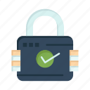 lock, padlock, secure, security icon
