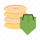 dollar, secure, security, shield icon