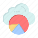cloud, data, reporting, science icon