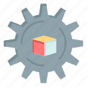 data, scince, slustion icon