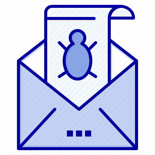 Bug, e, email, mail, malware, spam, threat icon - Download on Iconfinder