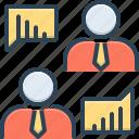 analytics, businessman talking about data analysis, chart, communication, corporate, discussion, teamwork