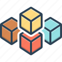 cube graphic of squares, polygon, puzzle, solution, square, squares, technology