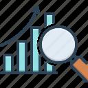 analysis, analytics, data analysis symbol, investigation, magnifying, marketing, research