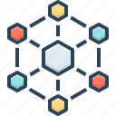 architecture, chart, digital, hexagonal, hexagonal interconnections, interconnections, interconnectivity