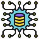 data, database, engineering, management, science, technology icon