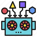 ai, data, deep, learning, modeling, robot, robotics icon