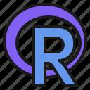 analysis, computing, data, programming, r, statistics icon