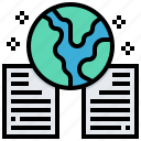 data, document, duplicate, earth, global, storage icon