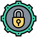 backup, data, lock, protection, security, system icon