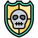 cranium, cyber, hacker, protection, security, skull, virus icon