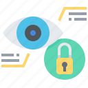 cyber, data, eye, identity, protection, scan, security icon