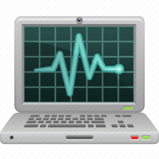 antivirus, computer, data, laptop, scan, security, status icon