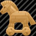 computer virus, data, security, trojan, trojan horse, virus icon