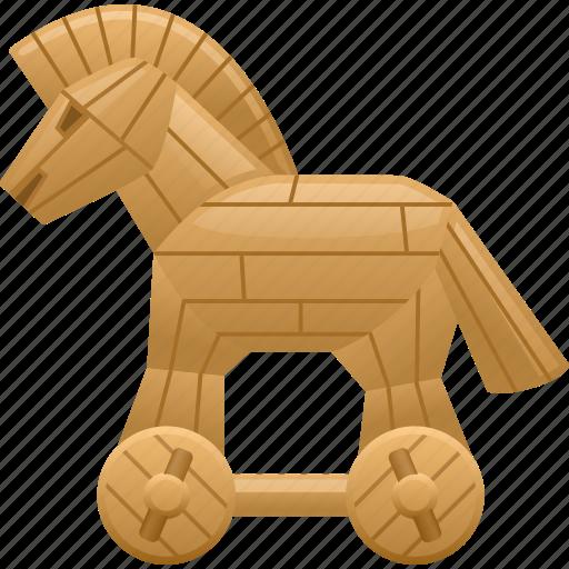 Computer virus, data, security, trojan, trojan horse, virus icon - Download on Iconfinder