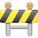 barrier, blocked, restriction, road barrier, security icon