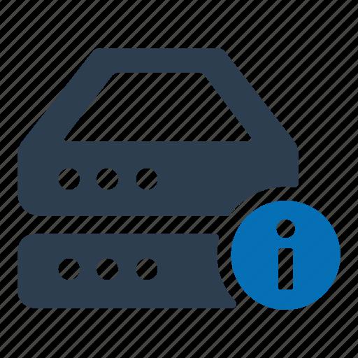information, server, storage icon