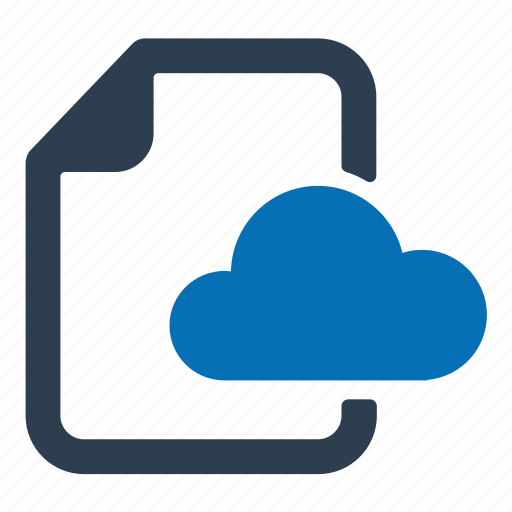 cloud, database, document, server icon