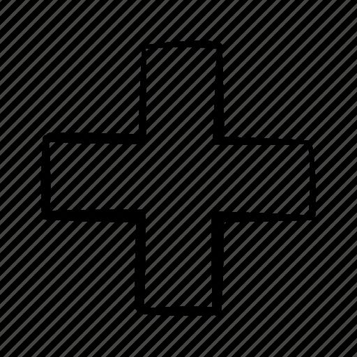 addition, cross, equation, handdrawn, math, plus, positive icon