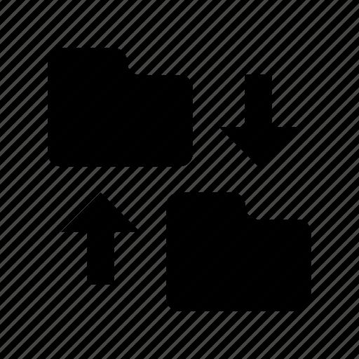 data storage, data transforming, folder sharing, folder transfer, folder transition icon