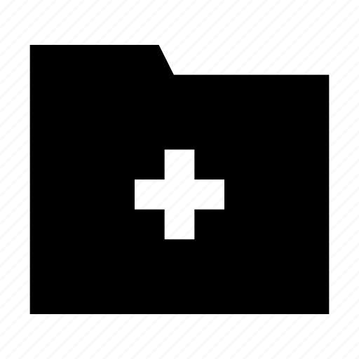 add, create, file, folder icon