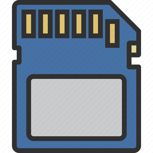 card, data, disk, memory, sd, sd card, storage icon