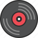 audio, data, music, record, sound, storage, vinyl icon