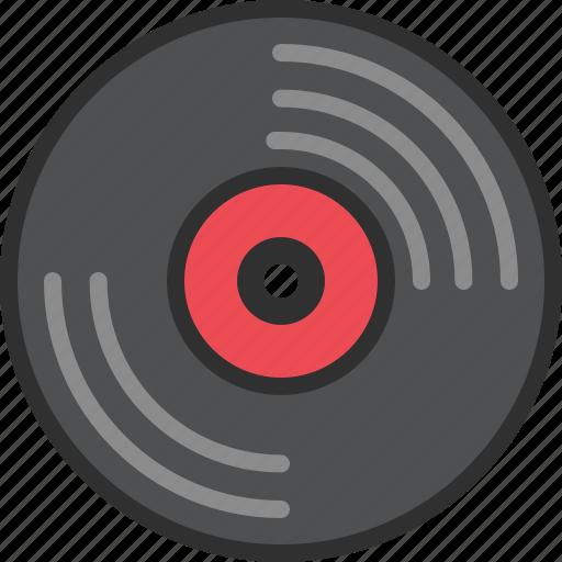 audio, data, music, record, sound, storage, vinyl icon