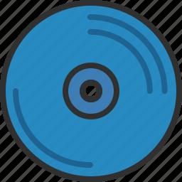 data, disk, memory, movie, music, storage icon