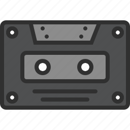 audio, casette, data, music, soud, storage, tape icon
