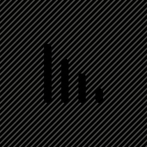 bars, data, descending, round icon