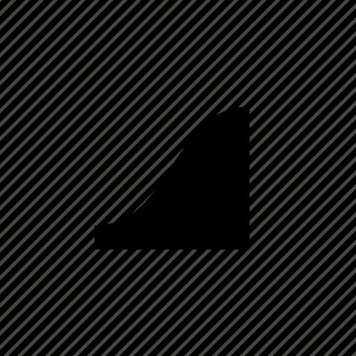 curve, data, raise icon